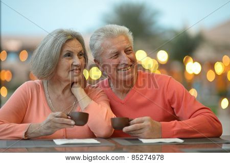 Amusing old couple