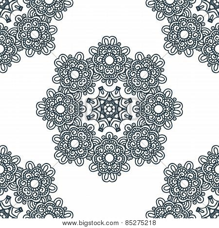 Seamless Background, East Ornament. Vector Illustration