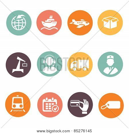Logistic and delivery icons