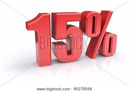 15 Percent Sign