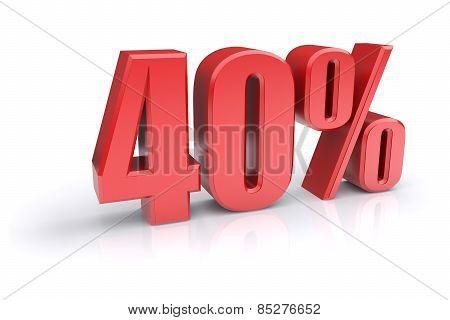 40 Percent Sign