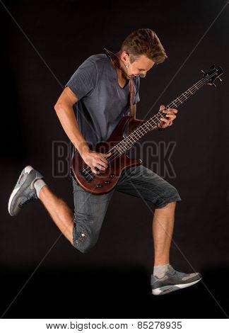 Bass guitarist.
