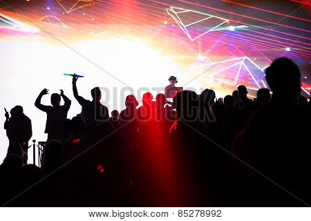 People Dancing In Club