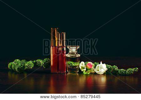 Women's Perfume And Lipstick