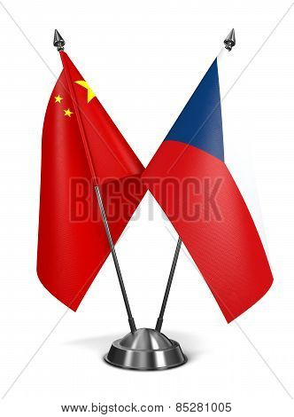 China and Czech Republic - Miniature Flags.