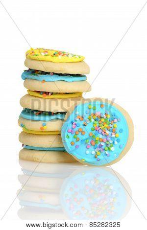 stack of easter sugar cookies