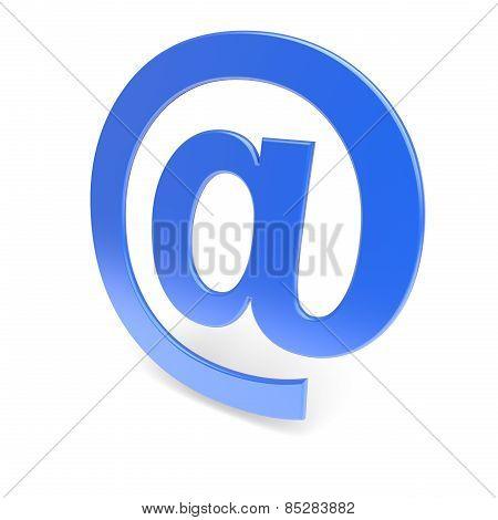 Blue 'at' Symbol