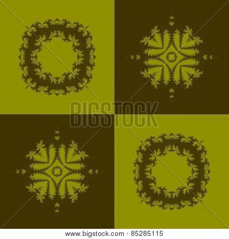 Abstract fractal seamless regular mosaic pattern