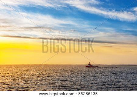 Tugboat On Sea