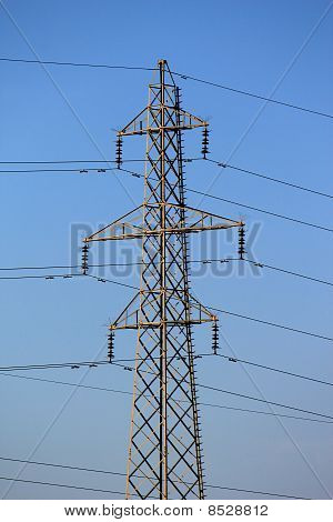 Electrical Pylon By Sunset