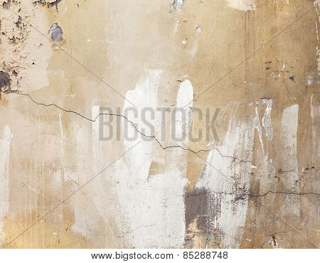 Old Weathered Concrete Wall, Texture With Cracks