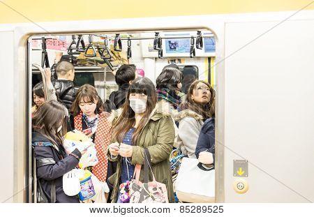 People In Tokyo Subway
