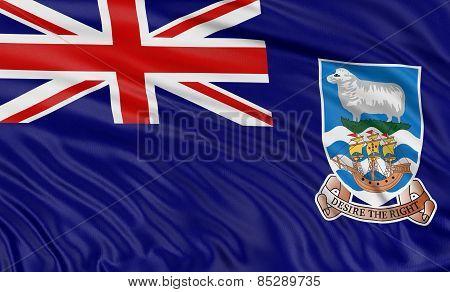 3D Falkland Islands Flag