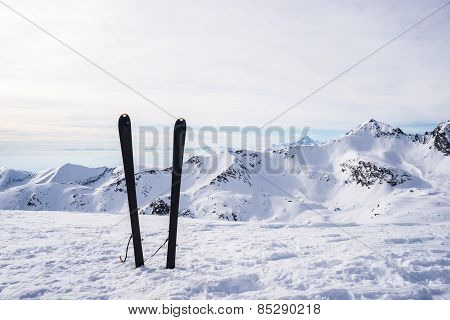 Mountaineering Equipment On Top