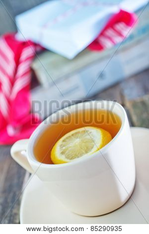 Tea With Lemon In Cup