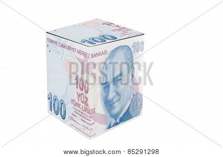 Turkish Lira Cube