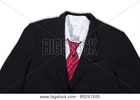 Empty Business Suit Concept