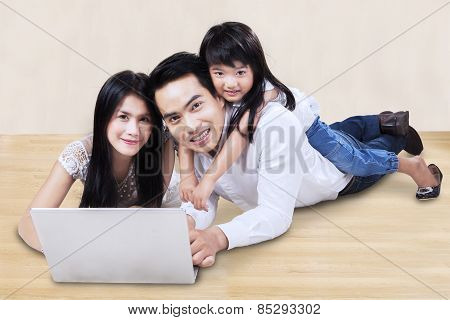 Family Suring On Internet At Home