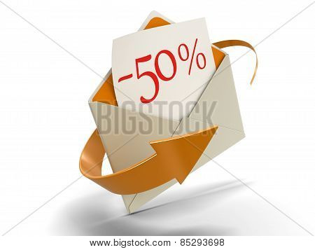 Letter -50% (clipping path included)