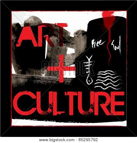 Abstract Art Culture Poster Vector Design