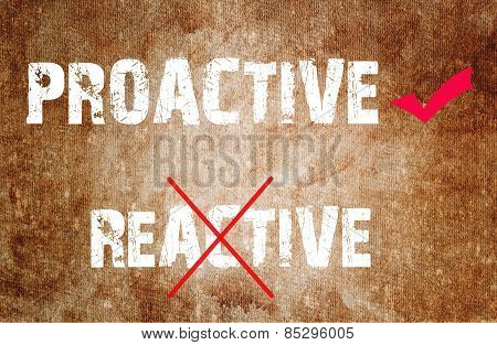 Proactive And Reactive Concept Text