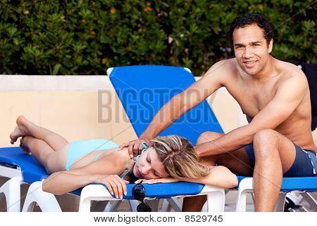 Pool Side Back Massage