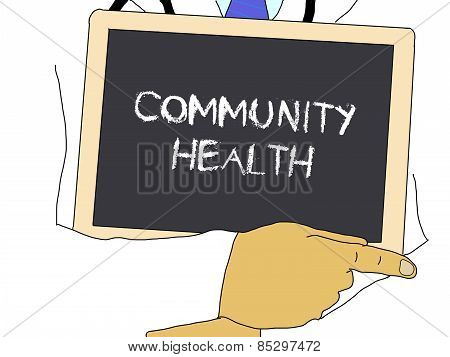 Illustration: Doctor Shows Information: Community Health