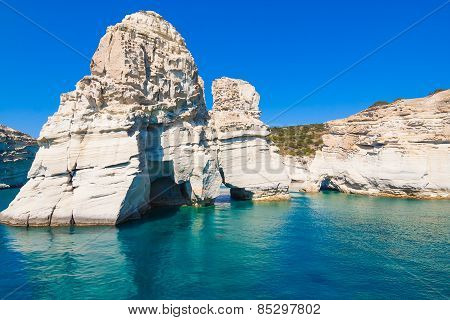 Kleftiko Cliffs, Milos Island, Cyclades, Greece