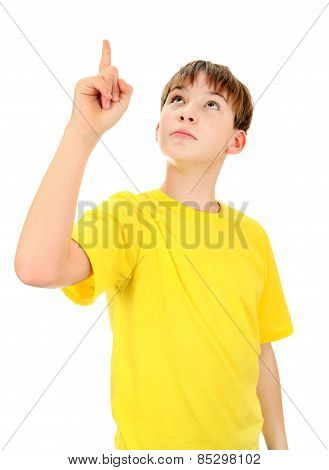 Kid Pointing Up