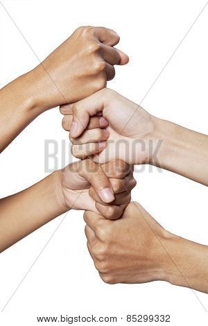 People Hands Showing Cooperation