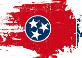 foto of scratch  - Scratched Tennessee Flag - JPG
