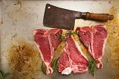 stock photo of t-bone steak  - beef steak t - JPG