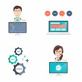 picture of programmers  - Web Development Icons and Illustrations Set in Flat Design Style - JPG