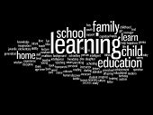 picture of education  - Concept or conceptual education abstract word cloud - JPG