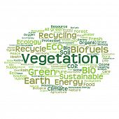 pic of environment-friendly  - Concept or conceptual abstract green ecology and conservation word cloud text on white background - JPG