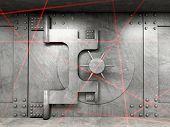foto of vault  - 3d image of classic vault door - JPG