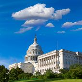 stock photo of capitol building  - Capitol building Washington DC sunlight day USA US congress - JPG