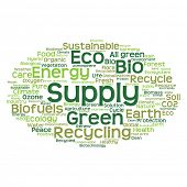 picture of environment-friendly  - Concept or conceptual abstract green ecology and conservation word cloud text on white background - JPG