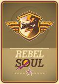 foto of rebel  - Rebel soul poster - JPG