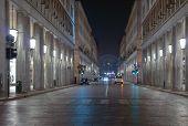 foto of turin  - Via Roma central highstreet in Turin Italy  - JPG