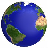 picture of planet earth  - Earth planet globe map - JPG