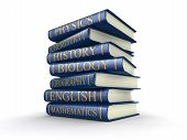 picture of physical education  - Stack of textbooks - JPG