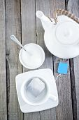 stock photo of tea bag  - tea in bag cup for tea and tea in bag - JPG