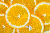 stock photo of orange  - fresh orange orange background Slices of orange - JPG