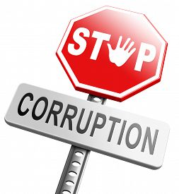 picture of corruption  - corruption paying bribery political government or police stop corrupt politicians   - JPG