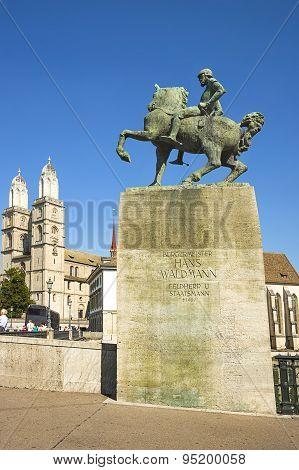 A Monument To Hans Waldmann, Switzerland