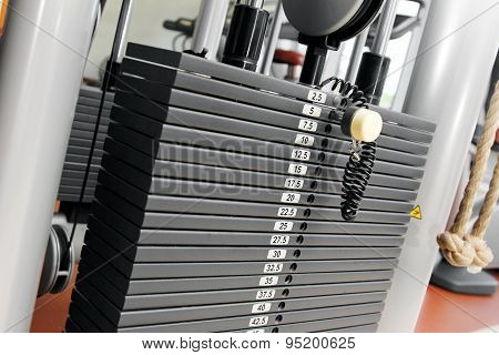 Weight Stack In A Gym