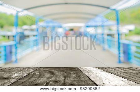 Blur Image Of Sidewalk With Bokeh