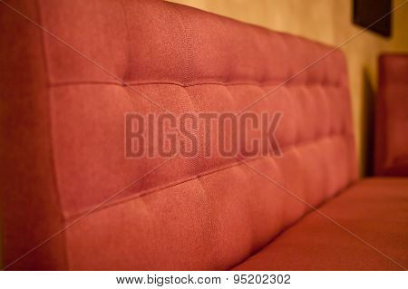 Red Sofa in the cafe
