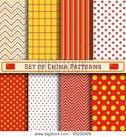 Set Of China Independence Day Patterns